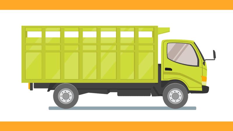 משאית הובלה ירוקה